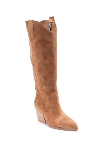 Derimod Kadın Çizme (6025) Casual Bej